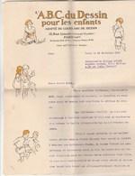 LONGUE LETTRE 4 PAGES D UN PROFESSEUR L ABC DU DESSIN PARIS 1931 A UN ELEVE  AU BRESIL - Diplômes & Bulletins Scolaires
