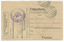CARTE / KRIEGSGEFANGENENLAGER DARMSTADT / 1916 - Lettres & Documents