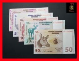 CONGO DEMOCRATIC REPUBLIC D R SET 1 10 20 50  Centime 1.11.1997 P. 80 81 82 83 UNC - Congo