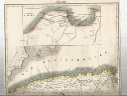 Carte Géographique , ALGER , L'ATLAS GEOGRAPHIQUE ,n° 23 , 2 Scans ,  Frais Fr : 1.75 E - Carte Geographique