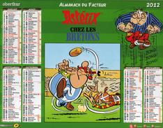 Calendrier Almanach La Poste PTT 2012 Astérix Chez Les Bretons - Grand Format : 2001-...