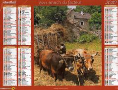 Calendrier Almanach La Poste PTT 2010. Attelage De Boeufs Fermiers Tracteurs - Grand Format : 2001-...