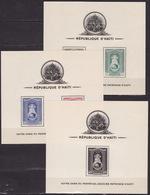 1942 HAITI - Mi BL. 1-3 A, PATRONES OF AHITI - MAP AND COAT OF ARMS - MNH** LUX - Haïti