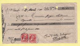 Belgique - Marche - 1910 - 10c Grosse Barbe Utilisation Sur Recu Pour Aywaille - 1905 Thick Beard