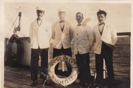 TRES BELLE PHOTO DU PERSONNEL DE BORD DU CHARGEUR GENERAL GREVY / MARSEILLE / FORMAT 5.5X8.5 - Boats
