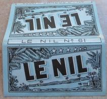 """Carnet De Papier à Cigarettes """"  LE NIL  """"  N° 61 - Joseph Bardou & Fils (  Job  ) - Empty Cigarettes Boxes"""