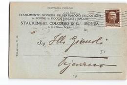 11808 MONZA STUAREGHINI COLOMBO CANDEGGIO COTONE X VIGEVANO - 1900-44 Vittorio Emanuele III