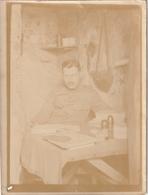 Photo 115 Mm X 85 Mm - 1918 - Casemate Salonique - Guerre Militaire - Scan R/V - - Guerre, Militaire