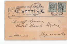 11809 MONZA SETTI BIANCHERIA X BAGNACAVALLO - 1900-44 Vittorio Emanuele III