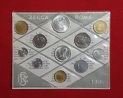 Italie : 11 Pièces De Monnaie FDC 1980 - Italia