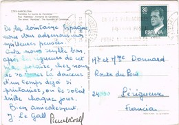 30623. Postal BADALONA (Barcelona) 1985. Fuente Canaletas De Las RAMBLAS - 1931-Hoy: 2ª República - ... Juan Carlos I