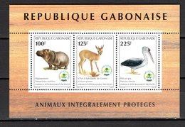 GABON BLOC N° 85  NEUF SANS CHARNIERE COTE ? € ANIMAUX - Gabón (1960-...)