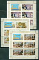 Cook Islands 480-482 SG 584-6, Capt. Cook Sheets/5 + Label, Mint Never Hinged - Cook
