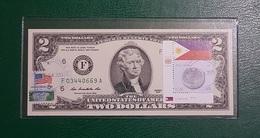 USA : Billet De 2 $ 2013 Atlanta Et Drapeau Des Fhilippines GEM NC - United States Of America