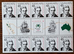 Vanuatu - YT N°805 Sur Feuille - Sydpex'88 / Exposition Philatélique Nationale - 1988 - Neufs - Vanuatu (1980-...)