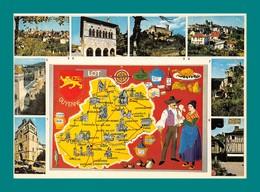 46 Lot Carte Géographique ( Champignons, Funghi, Cepes, Chataignes ) - Francia