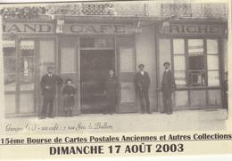 GANGES  15 Iéme Bourse De Carte Postale Anviennes  2003 - Bourses & Salons De Collections