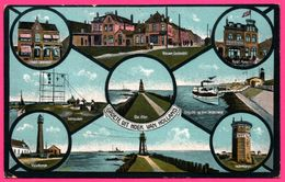 Groete Uit Hoek Van Holland - Multivues - Waterweg - Watertoren - Phare - Vuurtoren - Uitg. JOH. LIPS - 1922 - Hoek Van Holland