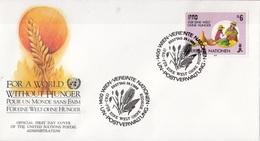 United Nations Vienna 1988 ONU Vereinte Nationen Wien FDC Per Un Mondo Senza Fame $6 - Contro La Fame