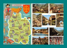 48 Lozere Carte Géographique Mende Florac Prades ( Champignons, Funghi, Cepes, Chataignes ) - Francia