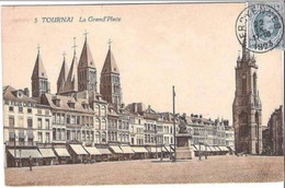 TOURNAI - La Grand'Place - Edition Belge - Oblitération De 1923 - Tournai