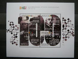 Centenary Of Lithuanian Authorities # Lietuva Litauen Lituanie Litouwen Lithuania # 2018 MNH #Mi. 1292/5 Block61 - Lithuania
