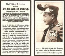 LUTTINO - ENGELBERT DOLLFUSS - Cancelliere Austriaco -  Mm. 66 X 117 -  Assassinato Dai Nazisti Il 25 Luglio 1934 - Religione & Esoterismo