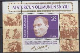 Turkey 1988 Ataturk M/s  ** Mnh (41365) - Blokken & Velletjes