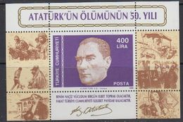 Turkey 1988 Ataturk M/s  ** Mnh (41365) - 1921-... Republiek