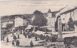 CPA (81) BRASSAC L' Obélisque Et La Place Du Pont Jour De Marché - Brassac