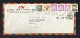 Korea 1989 Air Mail Postal Used Cover Korea To Pakistan - Korea (...-1945)