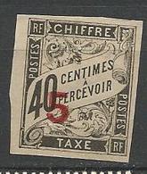 INDOCHINE TAXE N° 2 NEUF*  CHARNIERE TB / MH - Indochina (1889-1945)