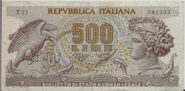 ITALY  P. 93a 500 L 1970 VF - [ 2] 1946-… : Repubblica