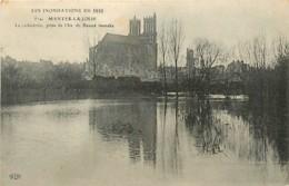78* MANTES - LIMAY   Crue 1910 -   Cathedrale              MA81.179 - Mantes La Ville