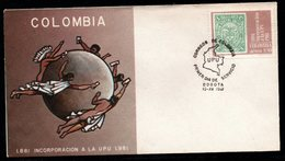 COLOMBIA- KOLUMBIEN- 1981. FDC/SPD.  100 YEARS COLOMBIA IN THE UPU - Colombia