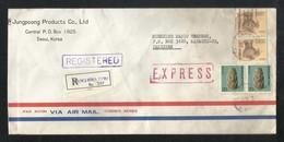 Korea 1989 Registered Air Mail Postal Used Cover Korea To Pakistan - Korea (...-1945)