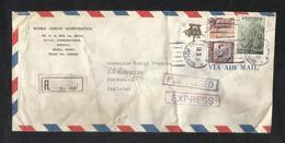 Korea 1981 Registered Air Mail Postal Used Cover Korea To Pakistan - Korea (...-1945)