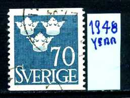 SVEZIA - SVERIGE - Year 1948 - Usato - Used - Utilisè - Gebraucht. - Gebraucht