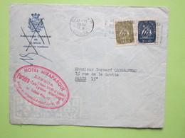 ENVELOPPE Seule Par Avion - Cachet HOTEL MIRAPARQUE LISBOA Obitérée 13/06/1951 PORTUGAL / Timbres 1,50 & 2 - 1910-... République