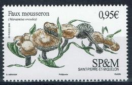 Saint Pierre And Miquelon, Mushroom, The Scotch Bonnet (Marasmius Oreades), 2018, MNH VF - St.Pierre & Miquelon