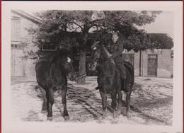 Old Original Photo Oude Foto Duits Soldaat Horse German Soldier Deutscher Soldat Allemand Wehrmacht Te Identificeren - Uniformes
