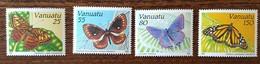 Vanuatu - YT N°856 à 859 - Faune / Papillons - 1991 - Neufs - Vanuatu (1980-...)