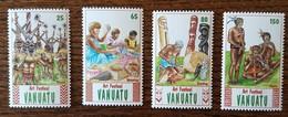Vanuatu - YT N°860 à 863 - Festival D'art Populaire - 1991 - Neufs - Vanuatu (1980-...)