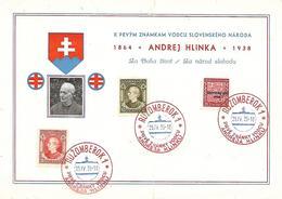 1939 - Ruzomberok, Andrej Hlinka, Karte 21X14.5cm.  Gute Zustand, 2 Scan - Slowakische Republik