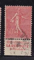 PUBLICITE: SEMEUSE LIGNEE 50C ROUGE LA REDOUTE-sous Vêtements BAS ACCP 467 OBLITERE - Advertising