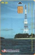 Maldives - MAL-C-07, Telecom Tower, 335MLDGIE, Telecommunication, 3/00, Used As Scan - Maldiven