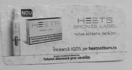 ROMANIA-CIGARETTES  CARD,NOT GOOD SHAPE-0.91 X 0.43 CM - Tabac (objets Liés)