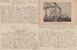 Ww1 Salonique 1916 Lot 4 Cartes Zeppelin Abattu Avec Texte Intéressant éditeurs Voir Scans - Guerre 1914-18