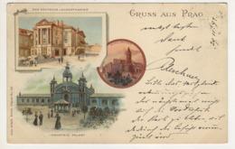 ° TCHEQUIE ° GRUSS AUS PRAG ° Carte Postée En 1899 ° - Tchéquie