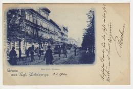 ° TCHEQUIE ° PRAG ° GRUSS AUS KGL. WEINBERGE ° Carte Postée En 1900 ° - Czech Republic